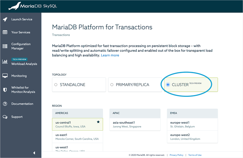 MariaDB SkySQL Adds Clustering for Continuous Availability